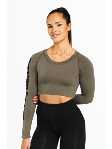 CROP-TOP BOWERY WASHED GREEN - Better Bodies