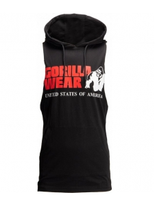 ROGERS HOODED TANK TOP BLACK - Gorilla Wear