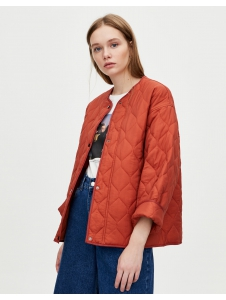 Buttoned jacket with quilted lining Pull & Bear