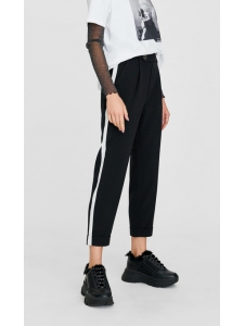 Carrot trousers with side stripes Stradivarius