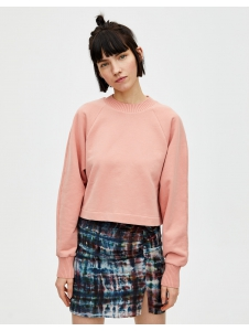 Cropped sweatshirt with ribbed trims Pull & Bear