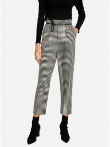 Houndstooth carrot fit trousers Stradivarius