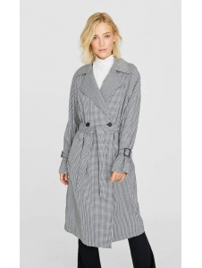 Houndstooth trench coat Stradivarius