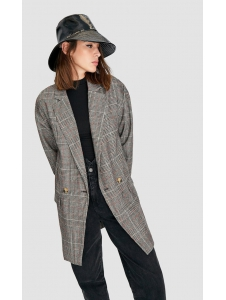 Oversized checked blazer Stradivarius