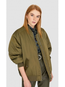 Satin effect bomber jacket Stradivarius