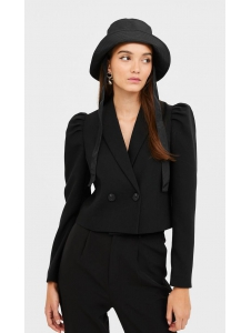Short blazer with puff sleeves Stradivarius