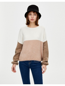 Soft knit colour block sweater Pull & Bear