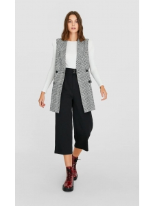 Straight cropped trousers Stradivarius