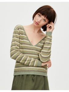 Striped cropped knit sweater Pull & Bear