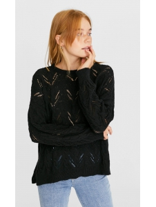 Sweater with a textured weave Stradivarius