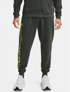 Tepláky Under Armour Rival Flc Graphic Joggers Baroque Green