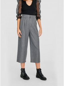 Textured cropped trousers Stradivarius