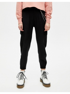 Cargo chino trousers with elastic hems Pull & Bear