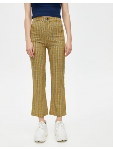 Check flared trousers Pull & Bear