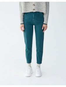 Coloured mom fit trousers Pull & Bear