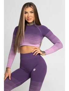 Crop-Top Gym Glamour Violet Ombre