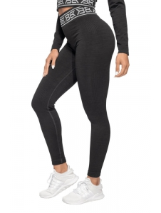 Legíny Better Bodies Rib Seamless Black Melange