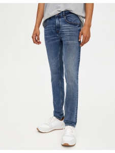 Skinny jeans with a distressed finish Pull & Bear
