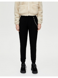 Trousers with chain and elastic hems Pull & Bear