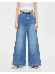 Wide-leg jeans with darts Pull & Bear