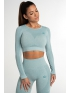 Crop Top Gym Glamour Fusion Green